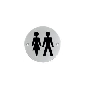 Pictogram dames- en herentoilet rond
