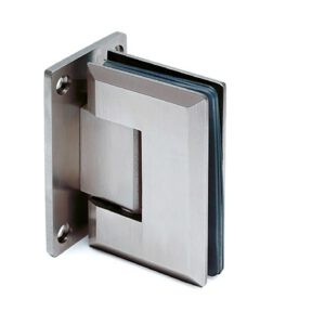 Glasdeurscharnier 90°, glas/wand, voor glasdikte 8 - 12 mm